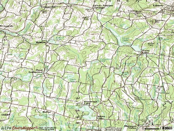 Zip code 12783 topographic map
