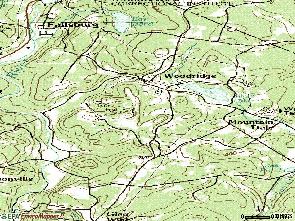 Zip code 12789 topographic map