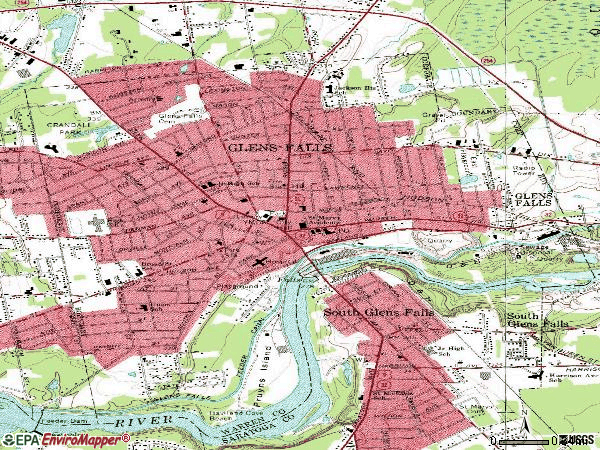 Zip code 12801 topographic map