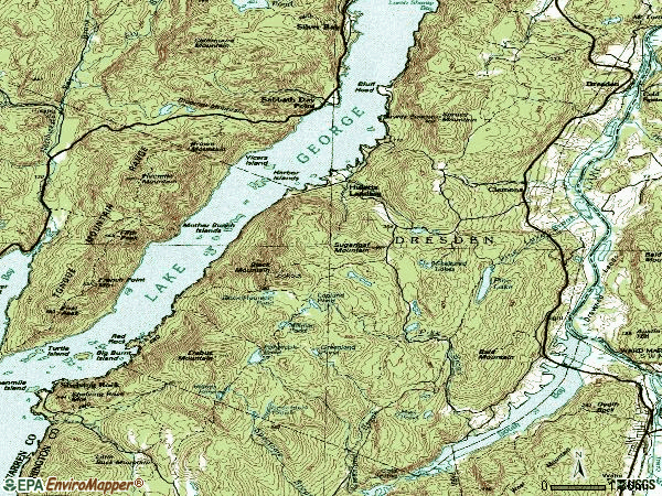 Zip code 12819 topographic map