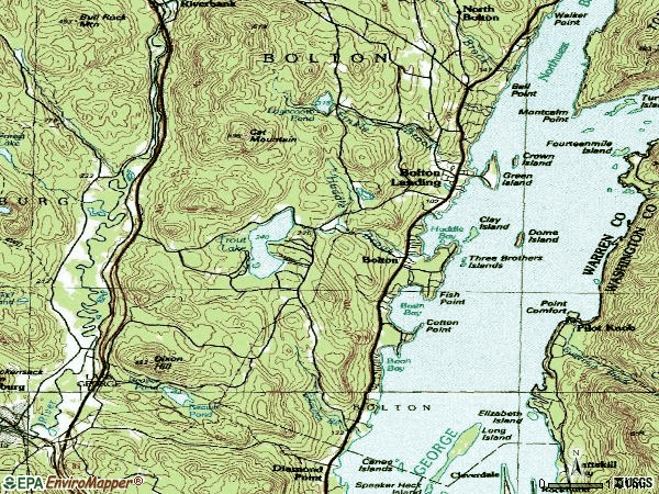 Zip code 12824 topographic map