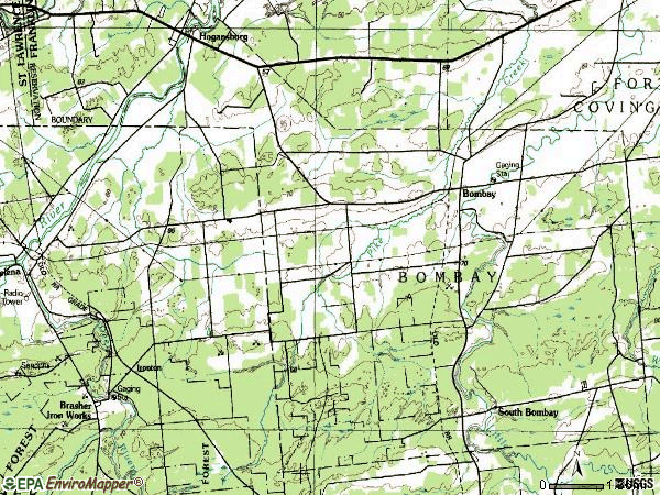 Zip code 12914 topographic map