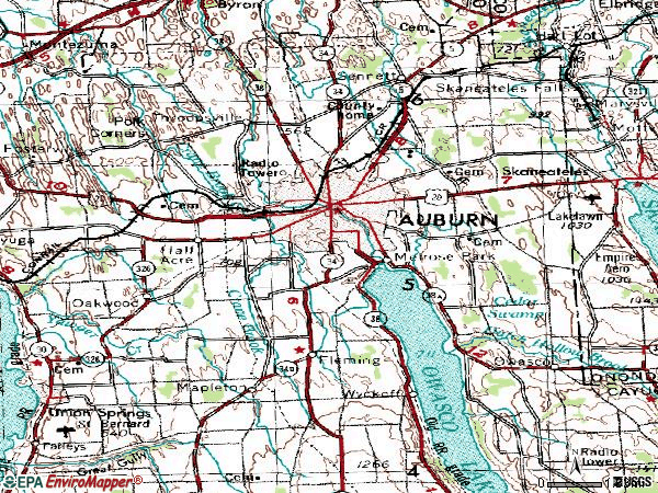 Zip code 13021 topographic map
