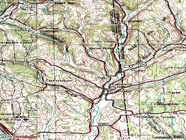 Zip code 13040 topographic map