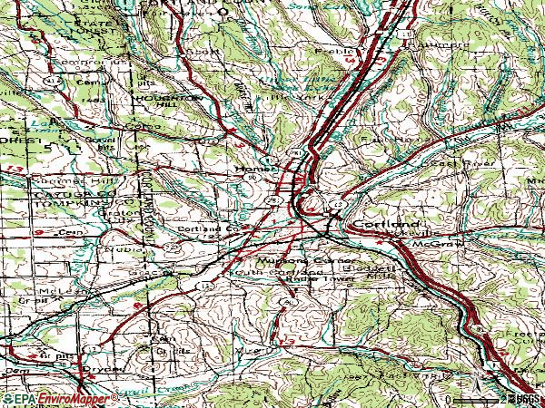 Zip code 13045 topographic map
