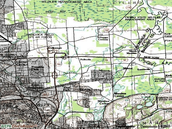 Zip code 13057 topographic map