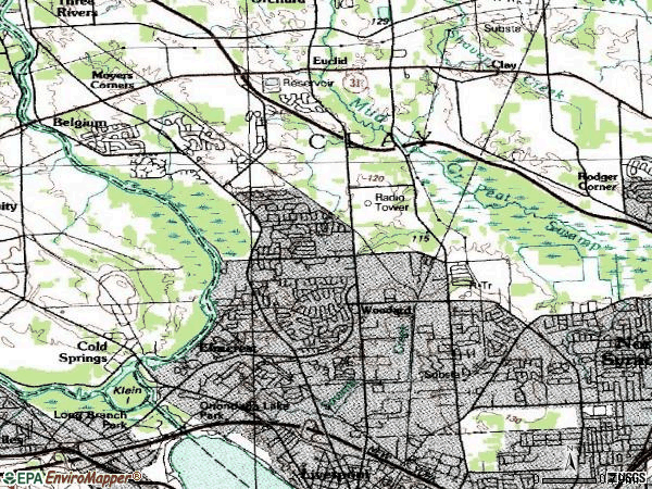 Zip code 13090 topographic map