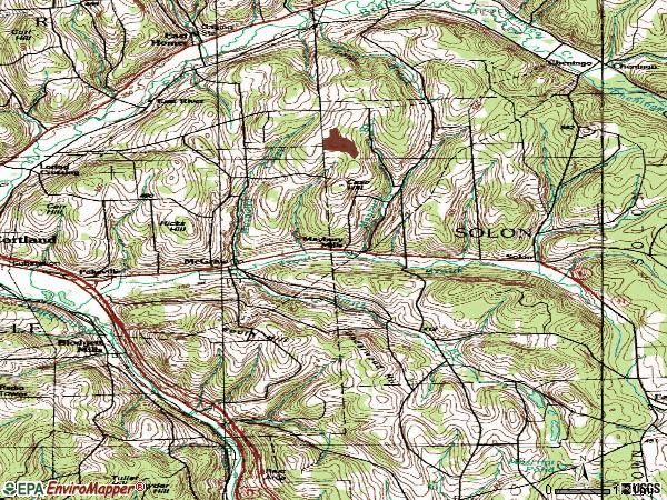Zip code 13101 topographic map