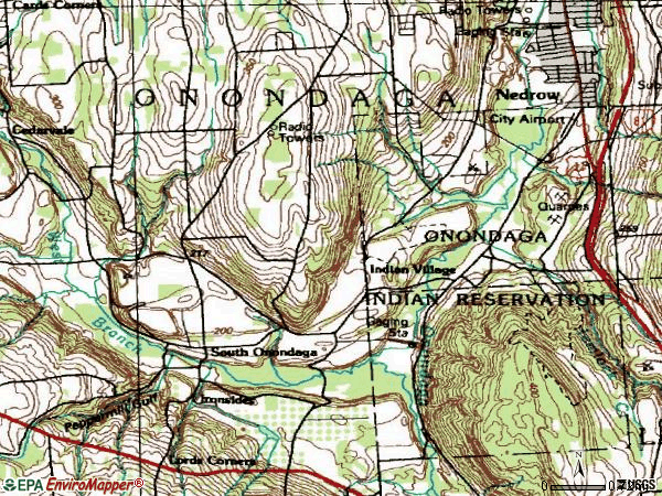 Zip code 13120 topographic map