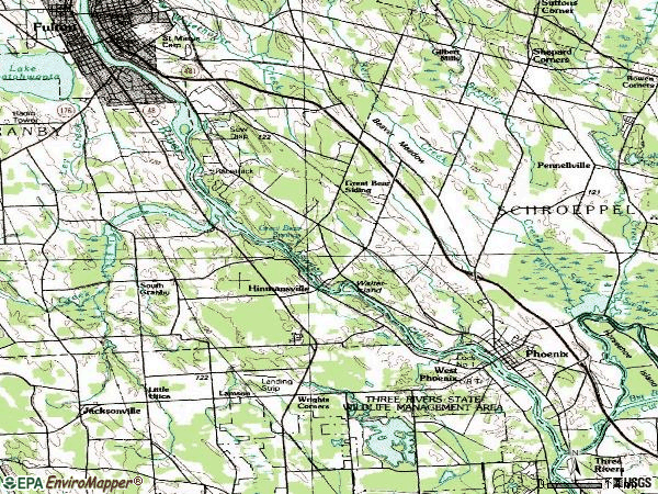 Zip code 13135 topographic map