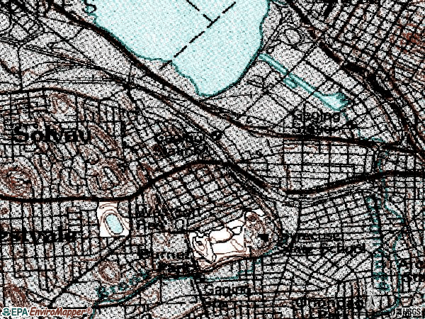 Zip code 13204 topographic map