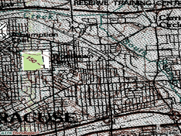 Zip code 13206 topographic map