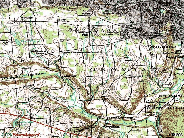 Zip code 13215 topographic map