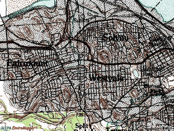 Zip code 13219 topographic map
