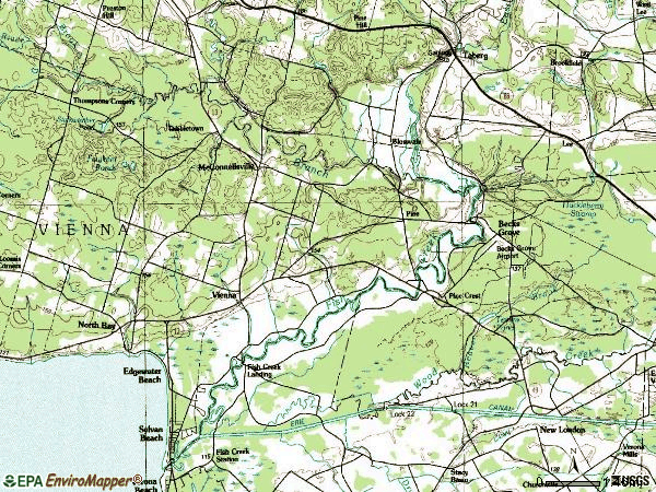 Zip code 13308 topographic map