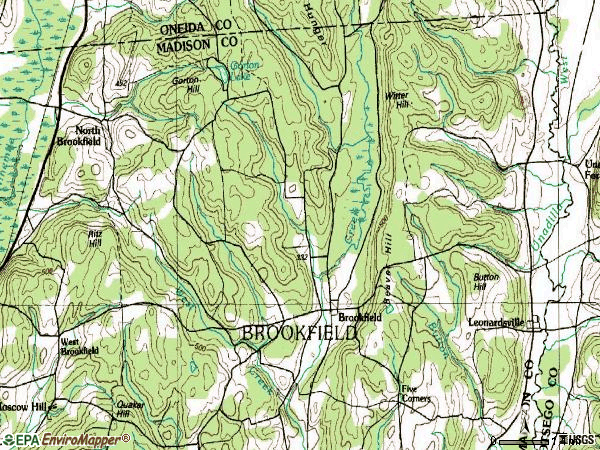 Zip code 13314 topographic map