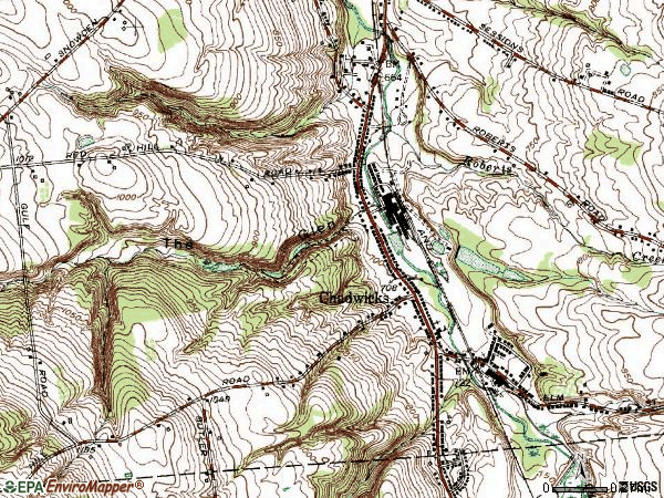 Zip code 13319 topographic map