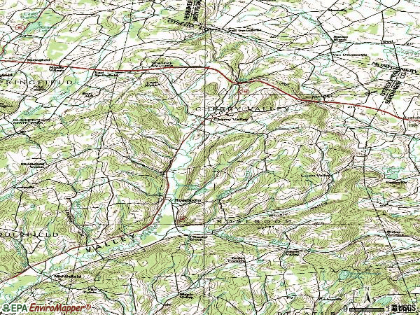 Zip code 13320 topographic map