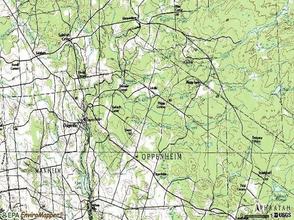 Zip code 13329 topographic map