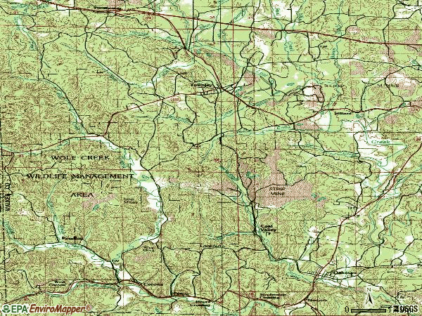 Zip code 35587 topographic map