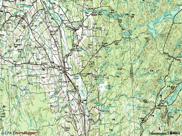 Zip code 13367 topographic map