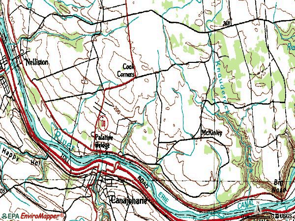 Zip code 13428 topographic map