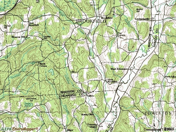 Zip code 13485 topographic map
