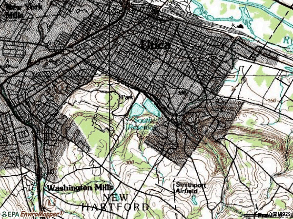 Zip code 13501 topographic map