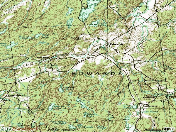 Zip code 13635 topographic map