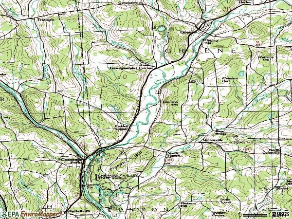 Zip code 13746 topographic map