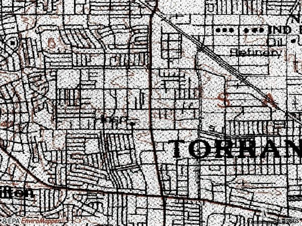Zip code 90503 topographic map