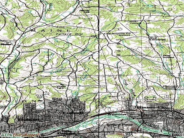 Zip code 13790 topographic map