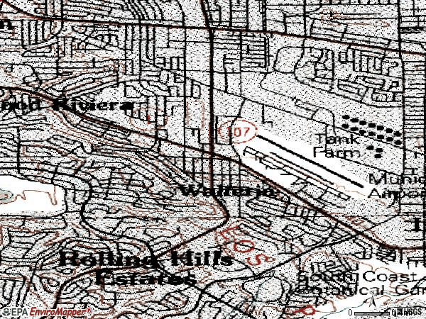 Zip code 90505 topographic map