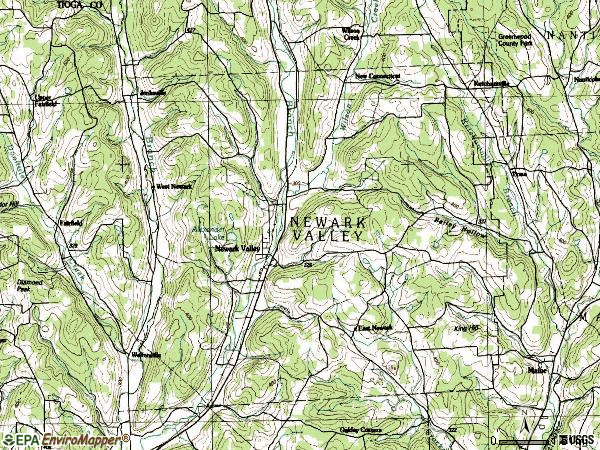 Zip code 13811 topographic map