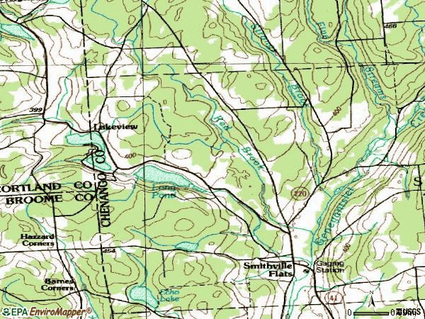 Zip code 13841 topographic map