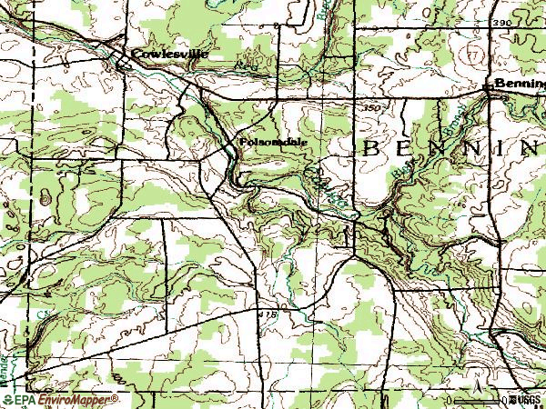 Zip code 14037 topographic map