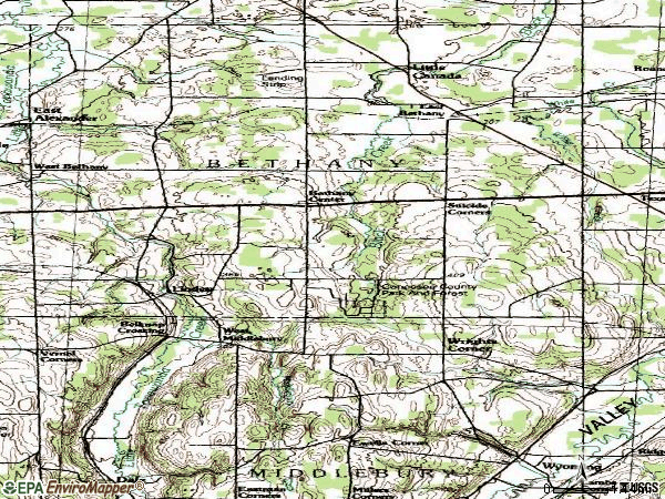 Zip code 14054 topographic map