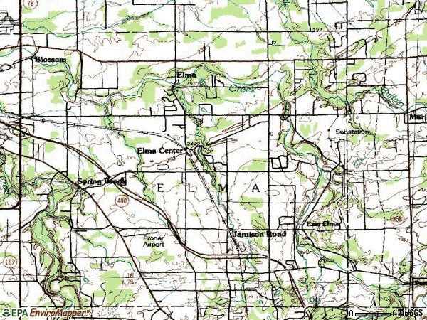 Zip code 14059 topographic map