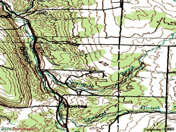 Zip code 14069 topographic map