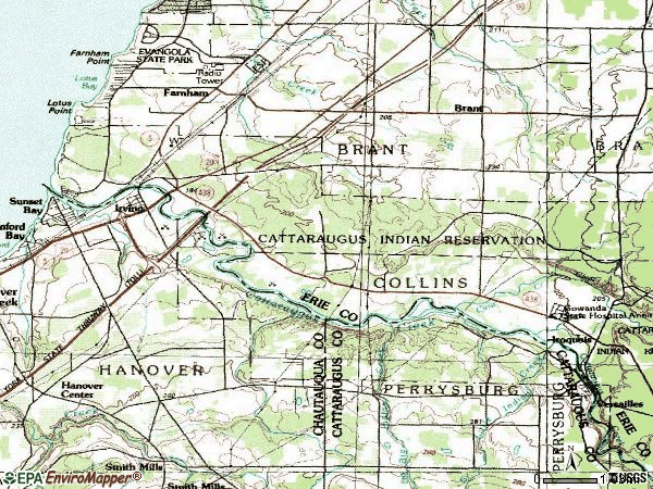 Zip code 14081 topographic map