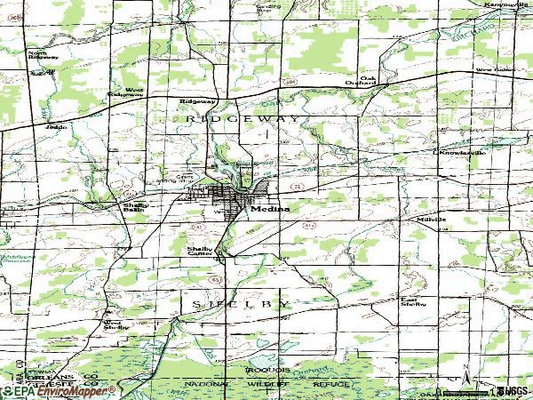 Zip code 14103 topographic map