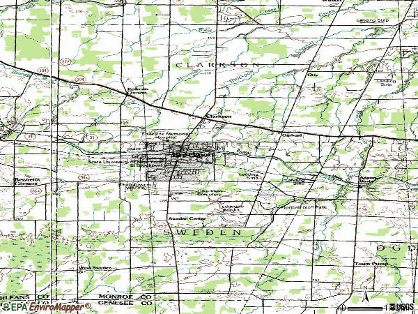 Zip code 14420 topographic map