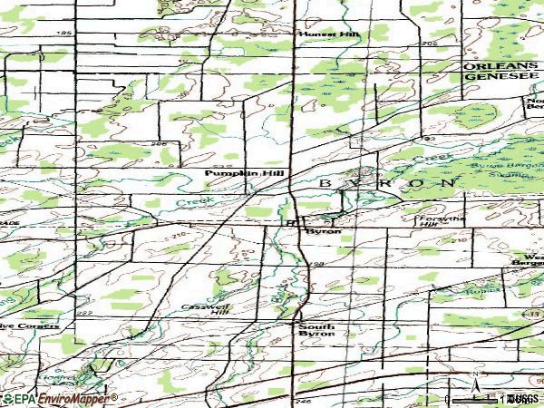 Zip code 14422 topographic map