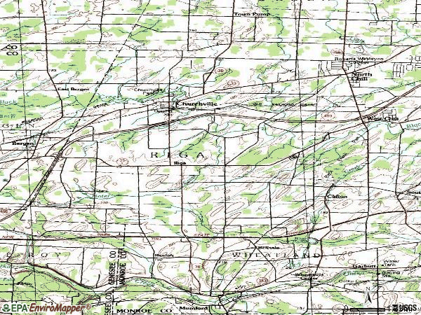 Zip code 14428 topographic map