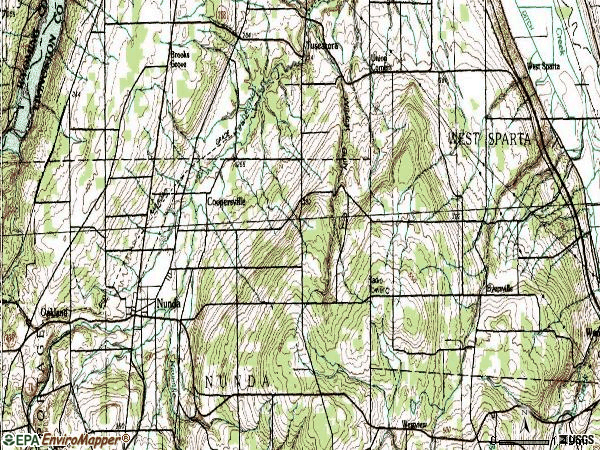 Zip code 14517 topographic map