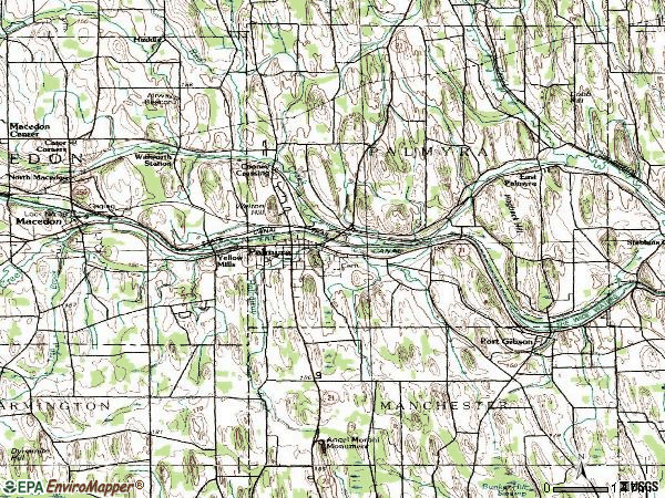 Zip code 14522 topographic map