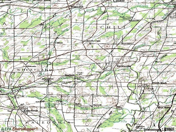 Zip code 14546 topographic map