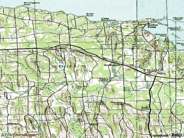Zip code 14551 topographic map