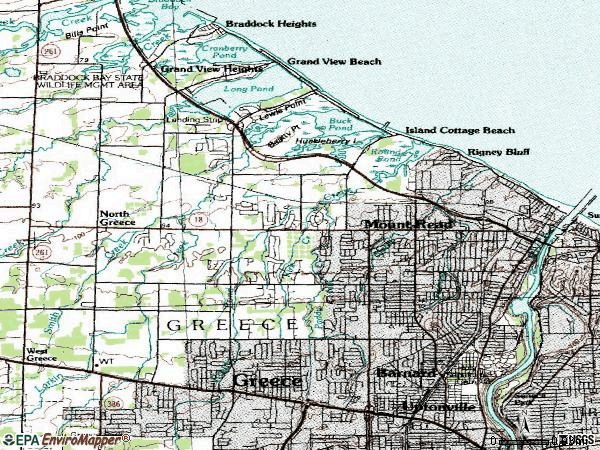 Zip code 14612 topographic map