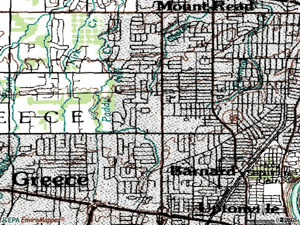 Zip code 14616 topographic map
